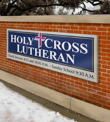 church outdoor sign by strata church signage makers chicago
