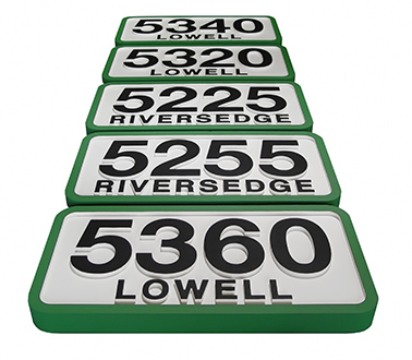 House Address Signs