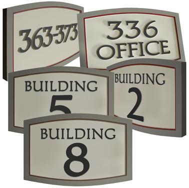 house numbers signs