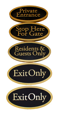 private entrance signs